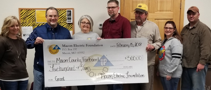 Macon Electric Foundation Awards Grant to Macon County Fairboard