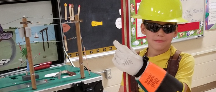 MEC Holds Safety Demonstration for Madison 4th Grade Students