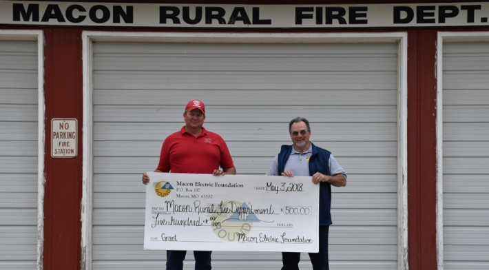 Macon Electric Foundation Awards Grant to Macon Rural Fire Department