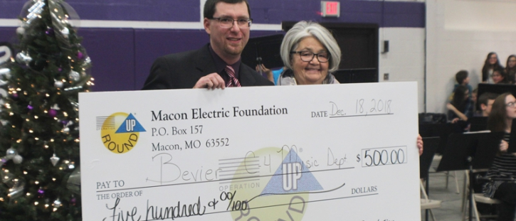Macon Electric Foundation Awards Grant to Bevier Music Department