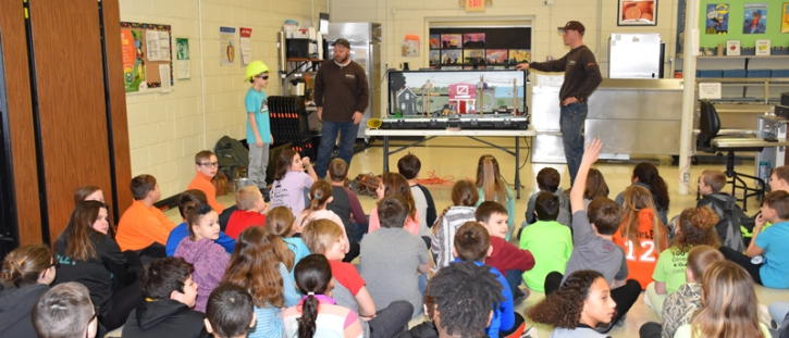 MEC Holds Electrical Safety Demonstration for Macon County Elementary Students