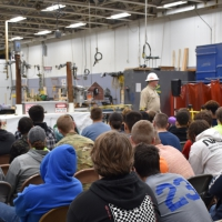 MEC Holds Live Line Demonstration for Moberly Tech. Students