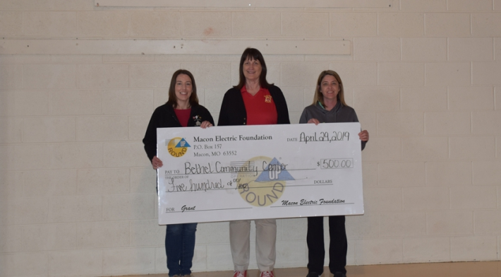 Macon Electric Foundation Awards Grant to Bethel Community Center