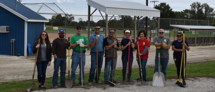 CV and MEC 'Co-ops in Action' Spruce Up Atlanta School Softball Field