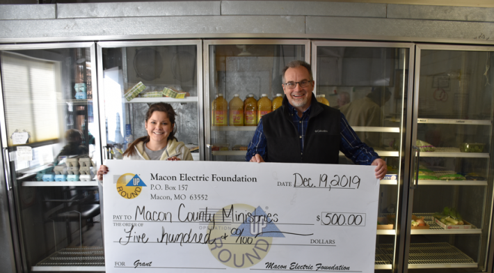 Macon Electric Foundation Awards Grant to Macon County Ministries