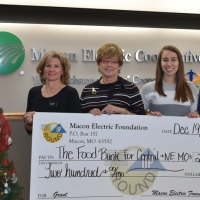Macon Electric Foundation Awards Grant to The Food Bank of Central and Northeast Missouri