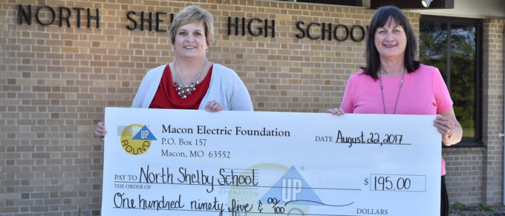 Macon Electric Foundation Awards Grant to North Shelby School