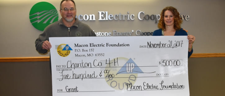 Macon Electric Foundation Awards Grant to the Chariton County 4-H