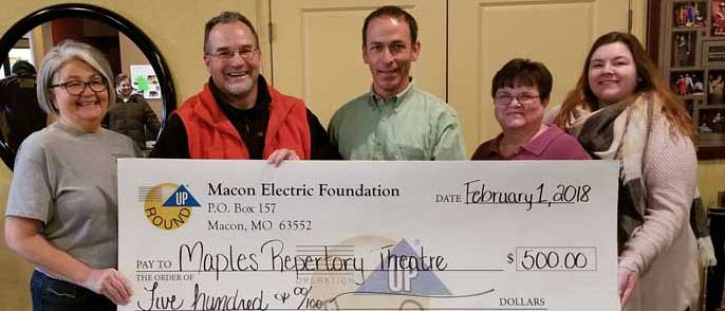 Macon Electric Foundation Awards Grant to Maples Repertory Theatre